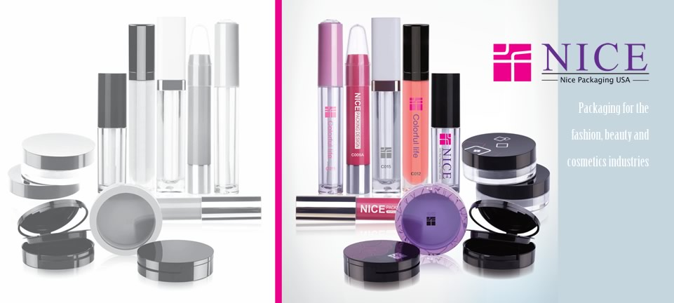 Nice Packaging USA for Cosmetics, compacts, lipstick, lipgloss, powder